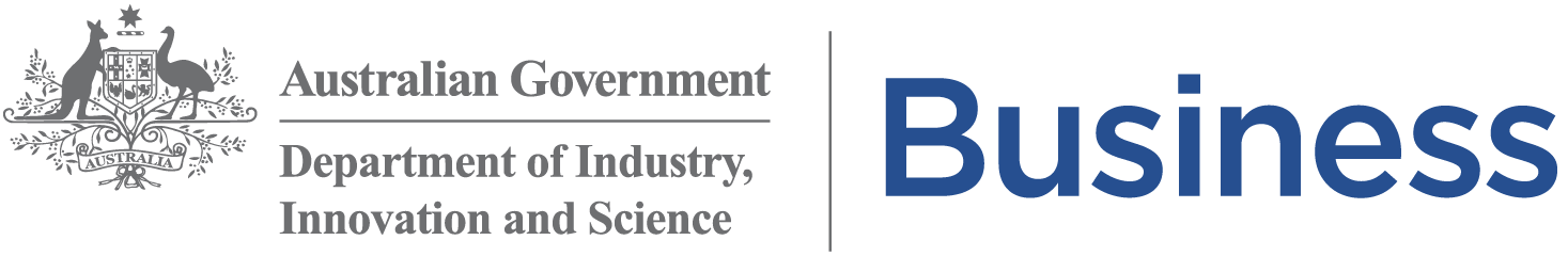 Dept Industry Innovation Science Business inline logo
